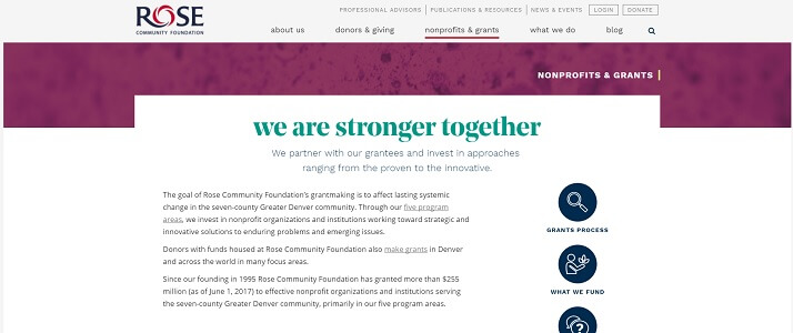 Nonprofits & Grants | Rose Community Foundation